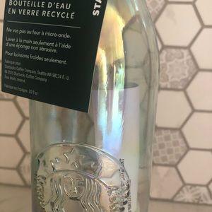 Starbucks Holiday 2019 Iridescent glass bottle